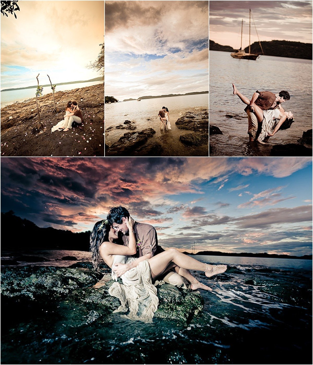 sunset photos of couple in love