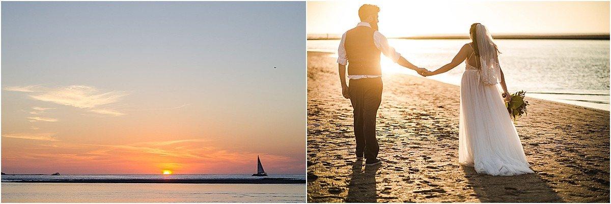sunset portrait on playa tamarindo costa rica