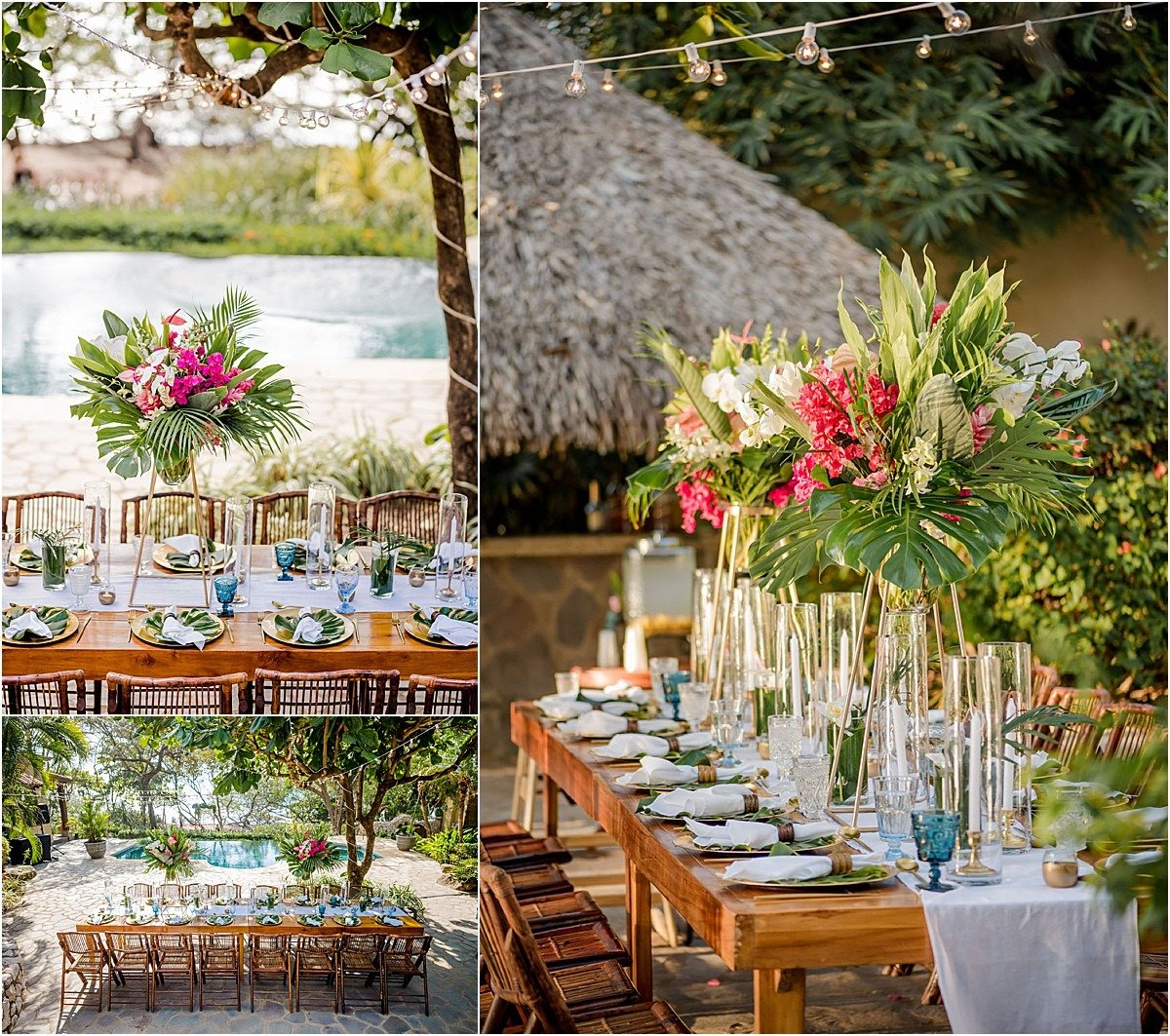 tropical reception by the pool in casa deluz