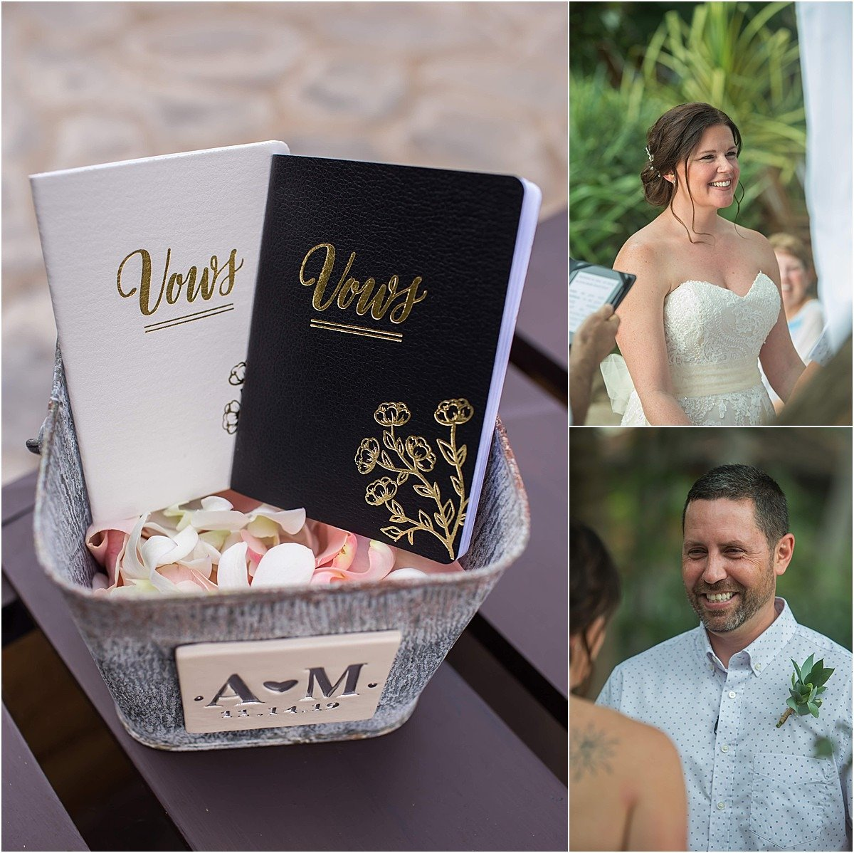 vows his and her custom book