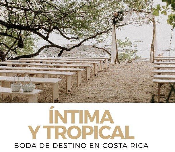intimate and tropical Fiancee Revista de Novias feature