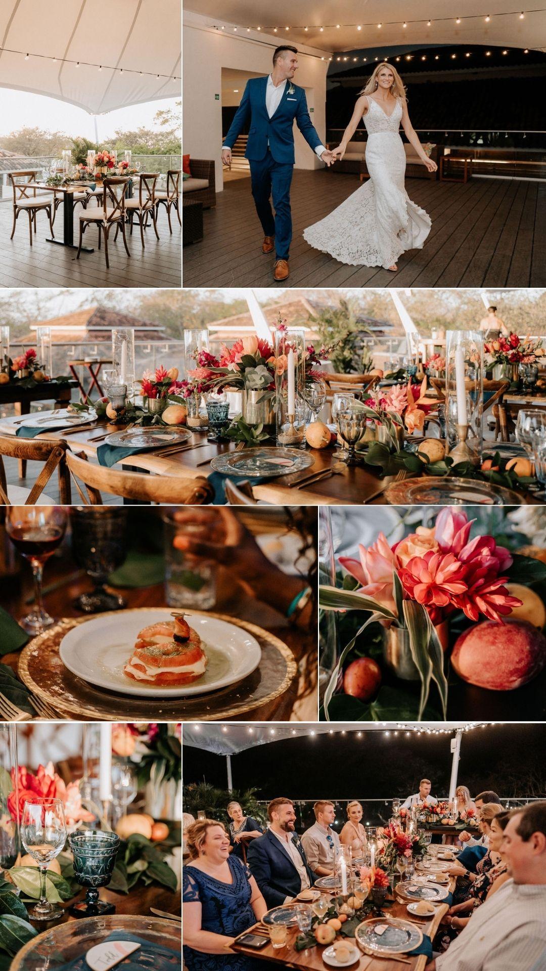 micro wedding reception in conchal
