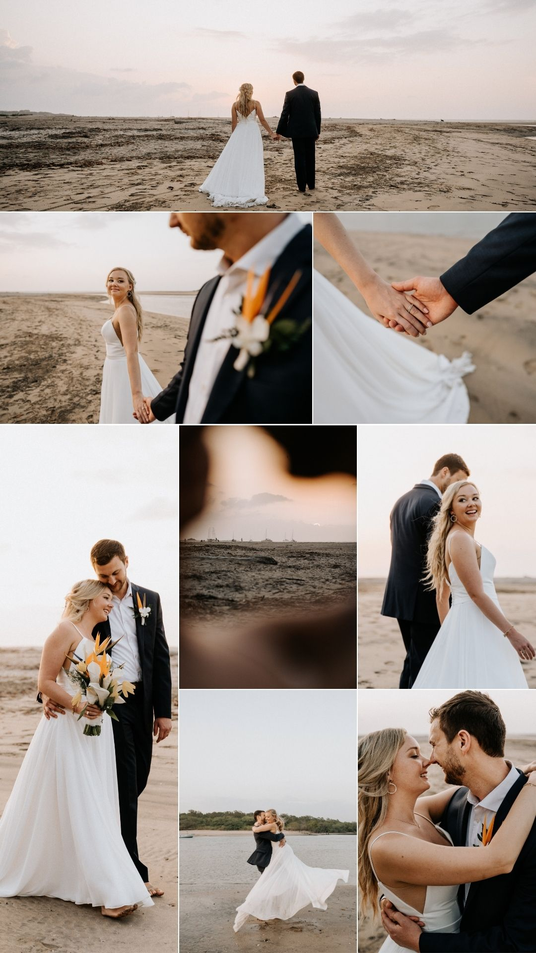 playa tamarindo costa rica photoshoot bride and groom