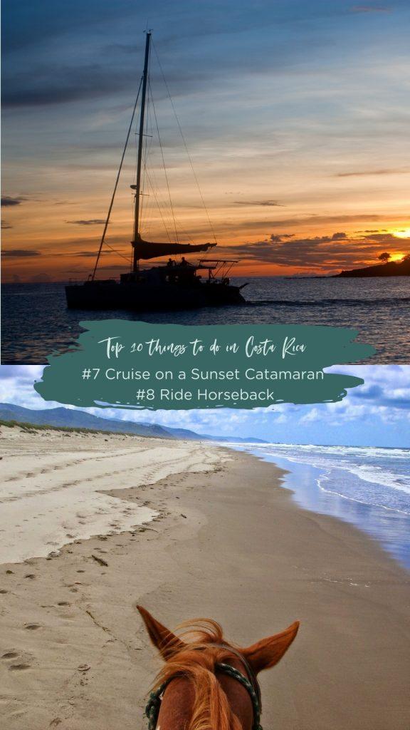 Sunset Catamaran Sailing and Horseback Tour