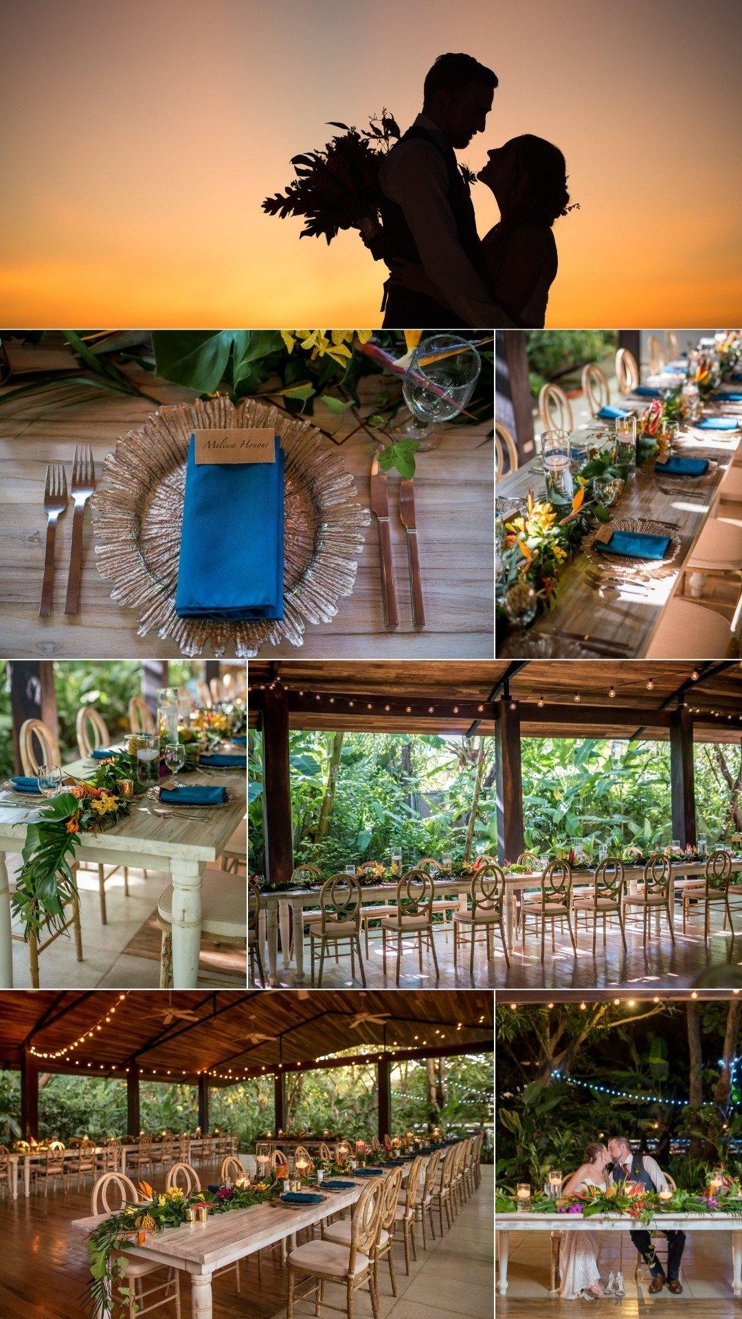 Tropical Micro Wedding Reception in costa rica