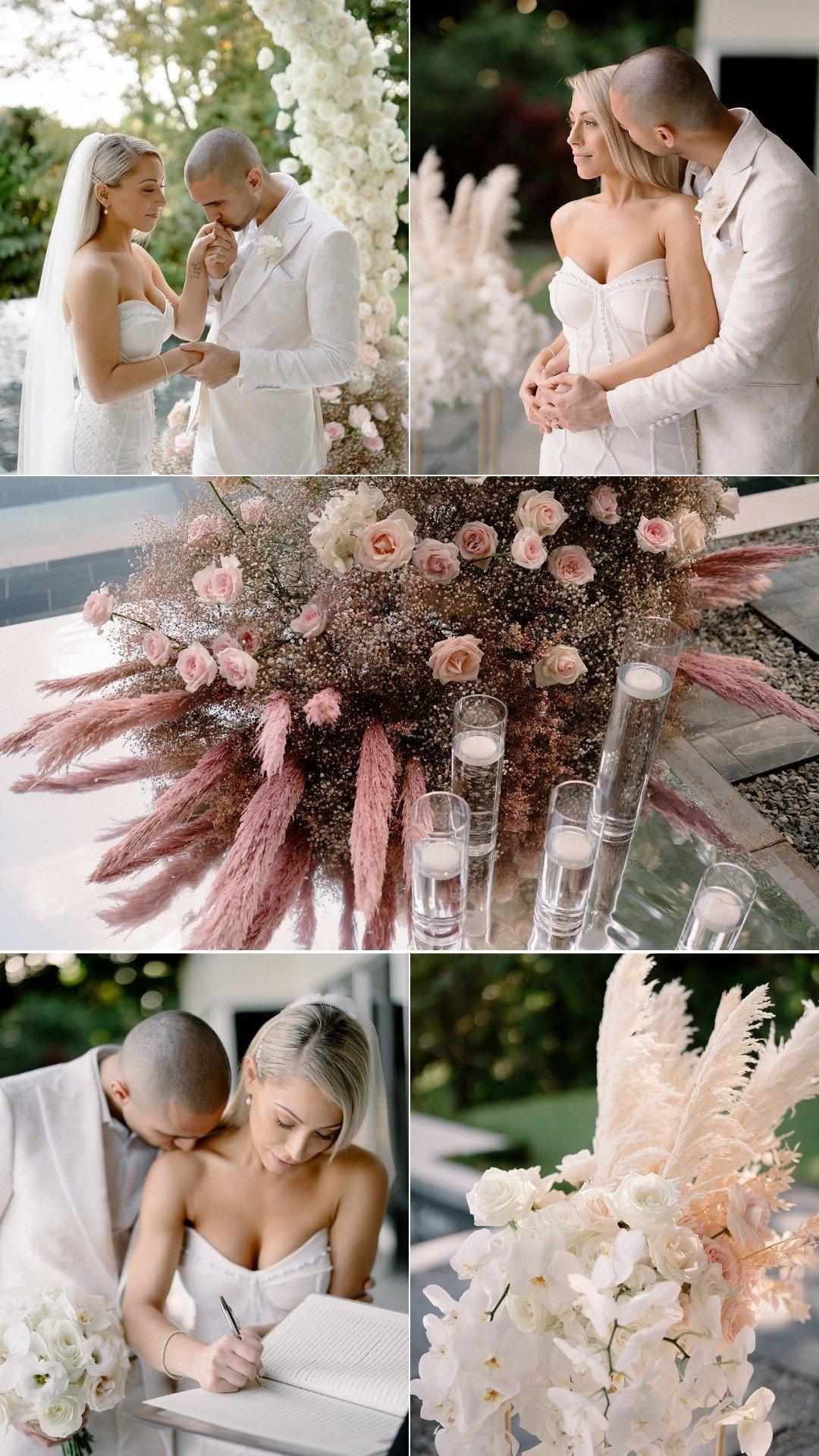 boho chic decor dried flowers