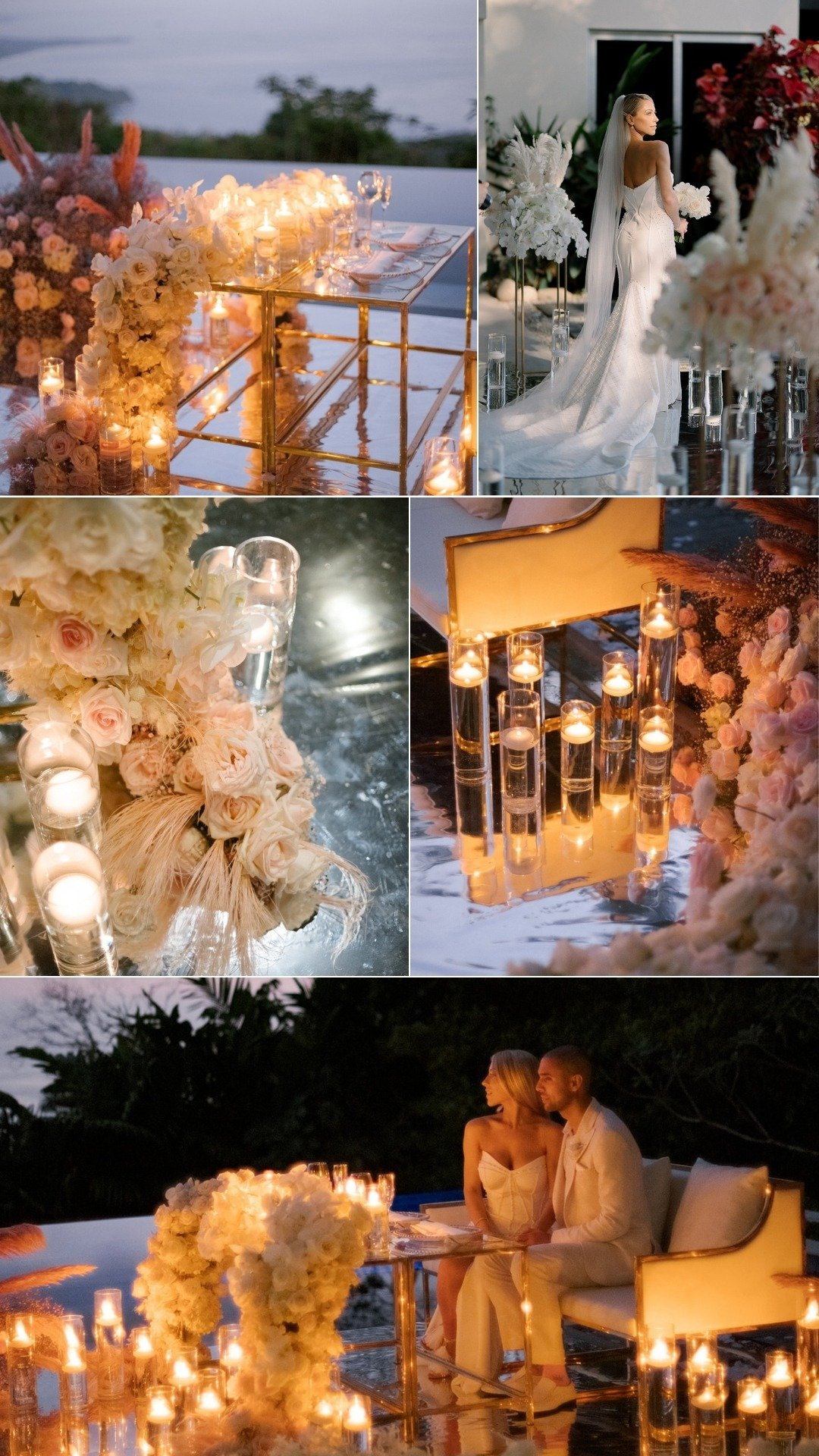 sunset candlelight elopement