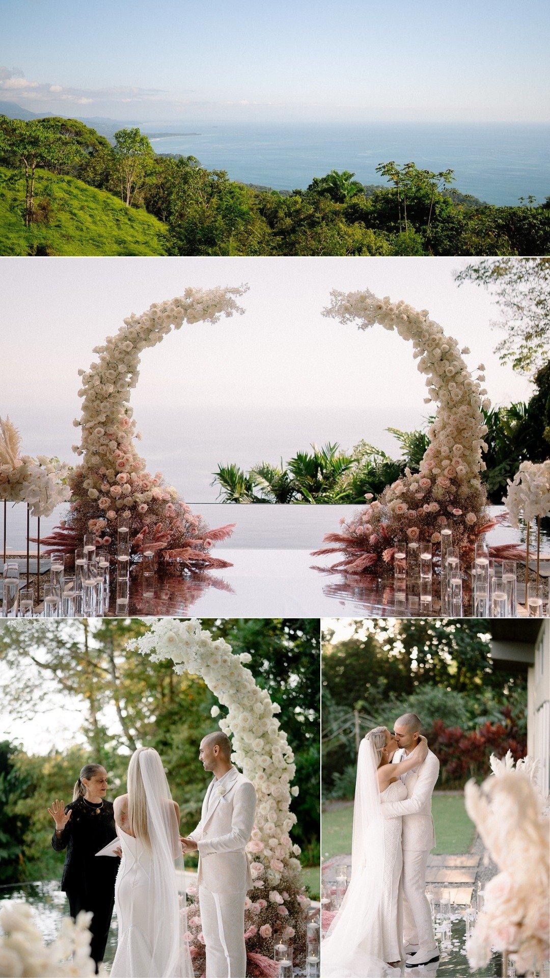 villa ceremony overlooking the ocean