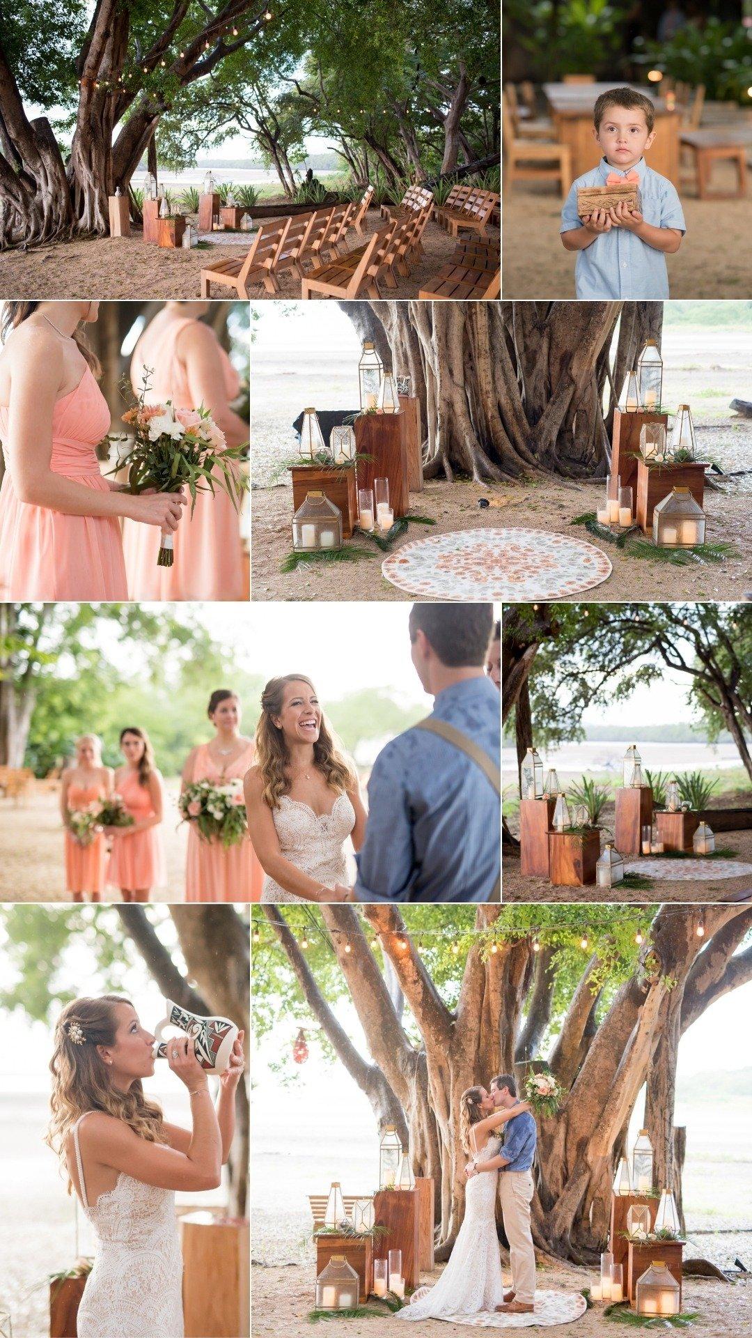 Classic Tropical Wedding ceremony decor ideas