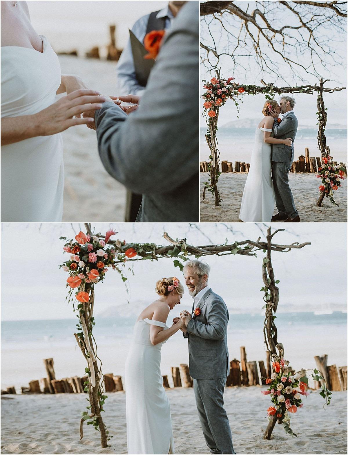 arch elopement in langosta beach