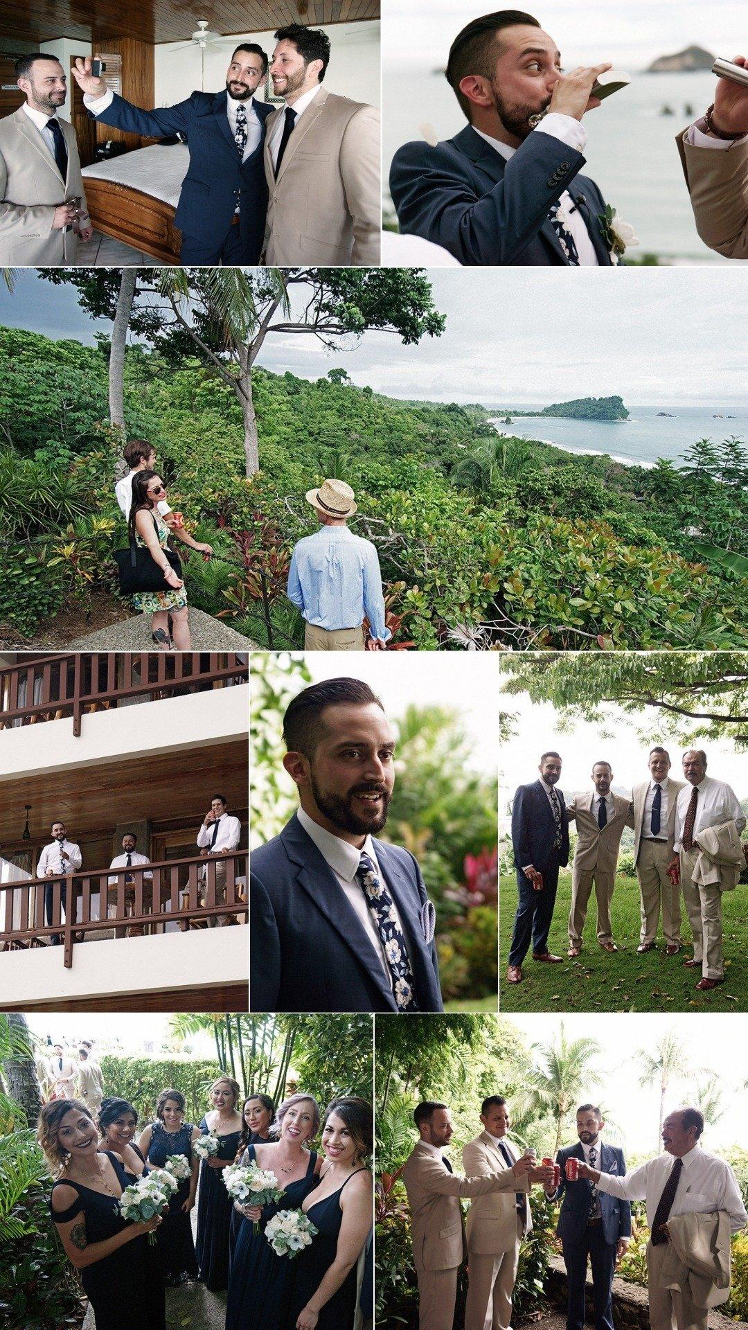 groomsmen attire at a quepos wedding in costa rica