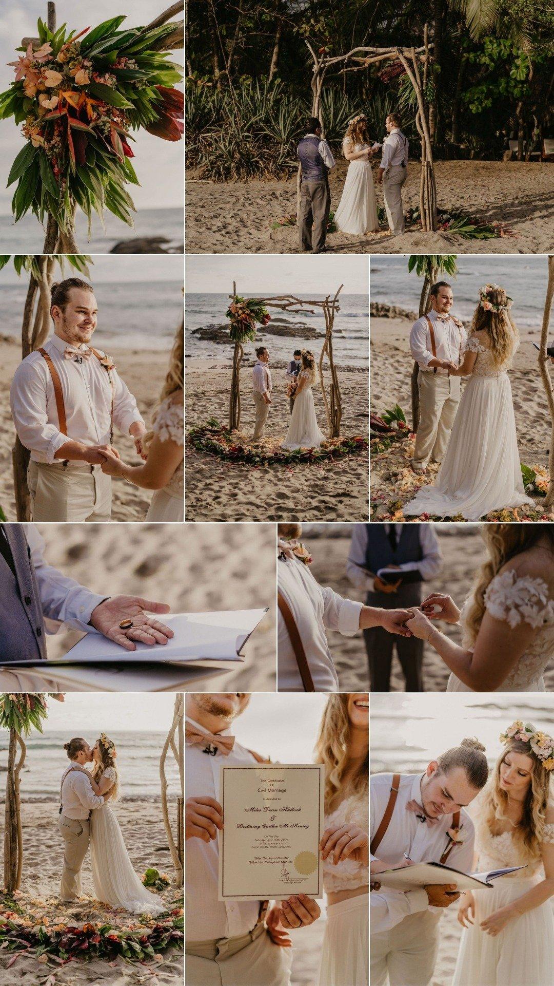 langosta beachfront elopement photographer