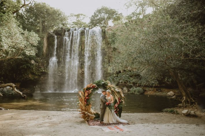 Waterfall Vow Renewal