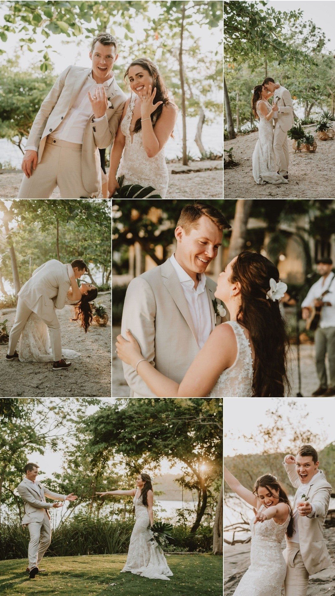 dancing in the gardens after eloping