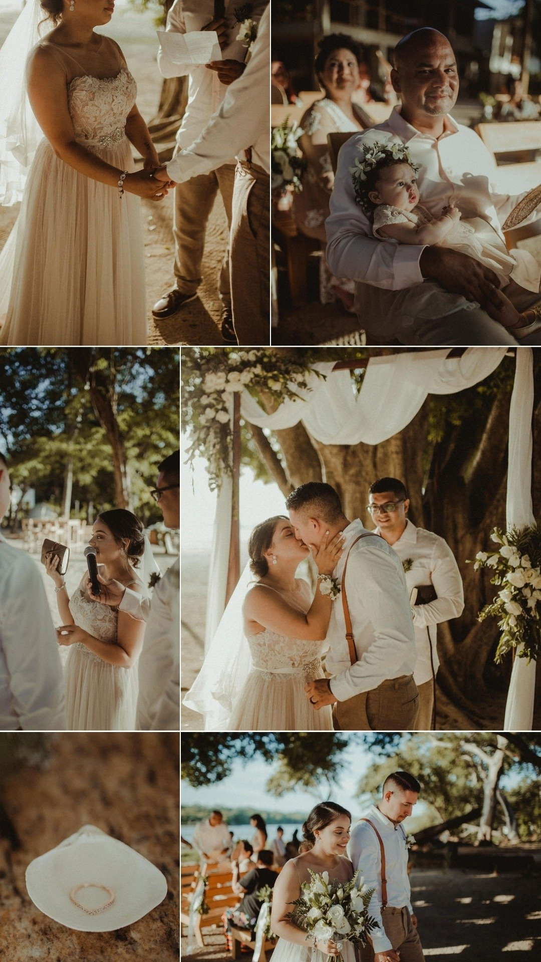 family filled wedding ceremony