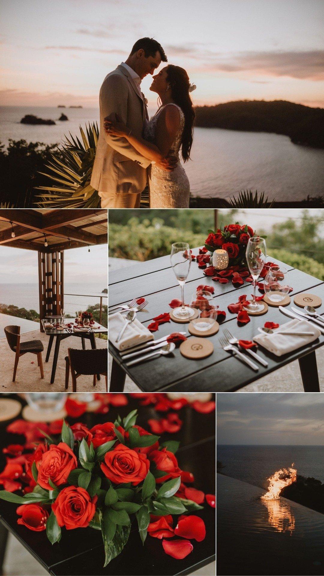 romantic dinner in las catalinas playa danta