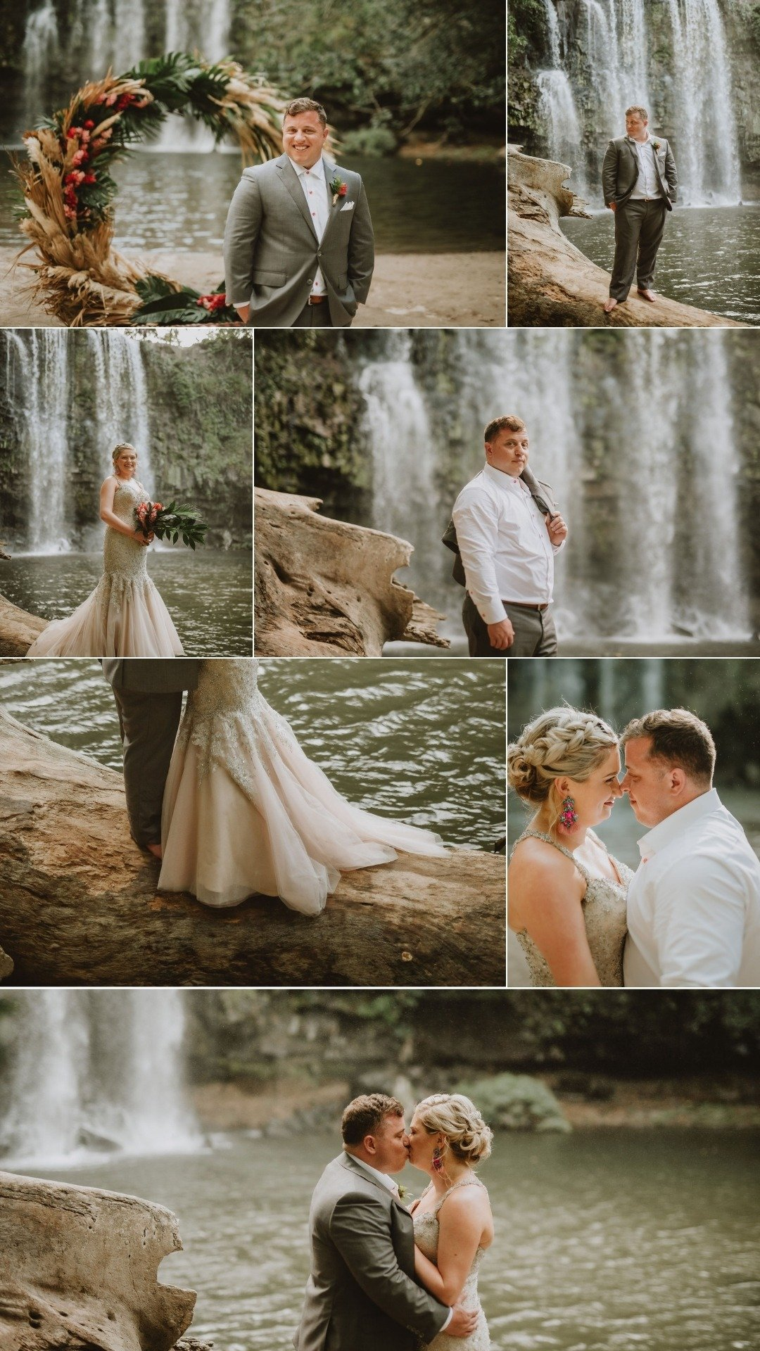 waterfall vows in costa rica