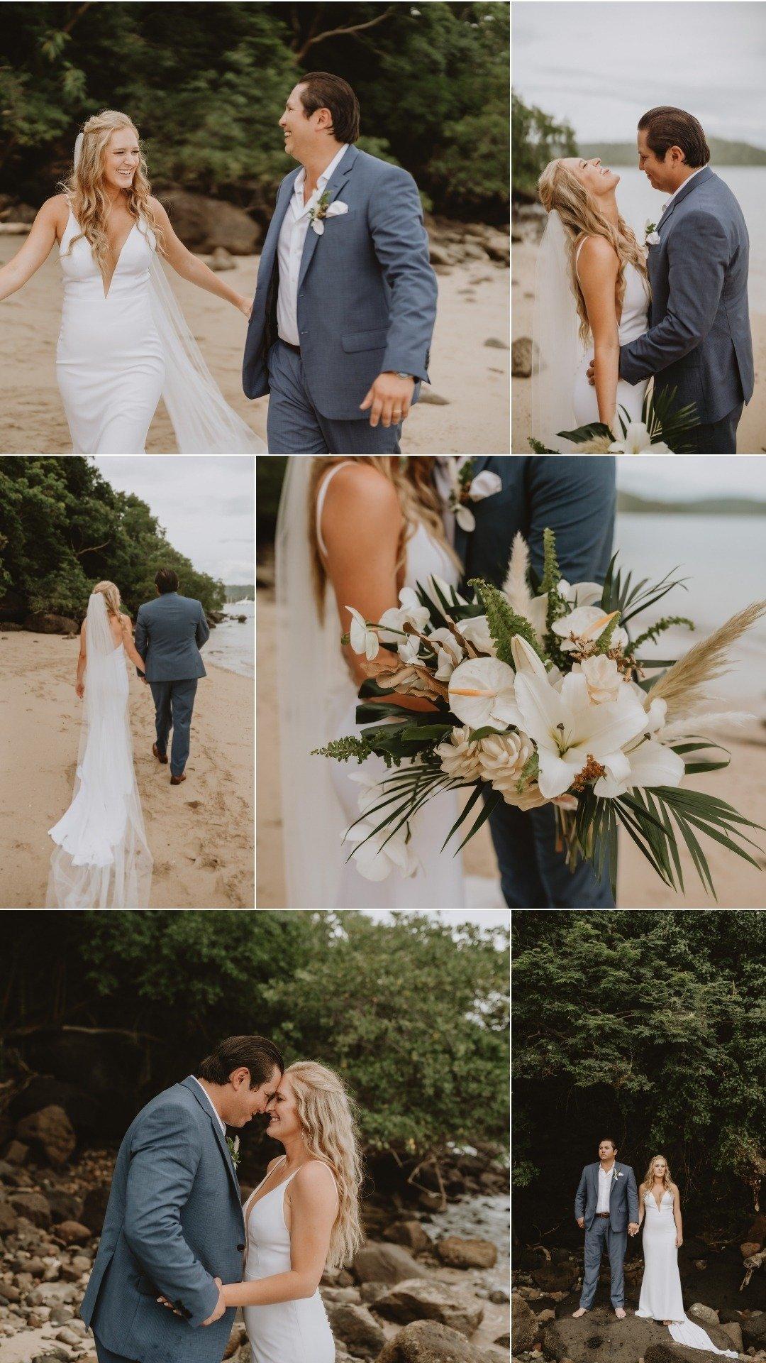 Guanacaste beach elopement