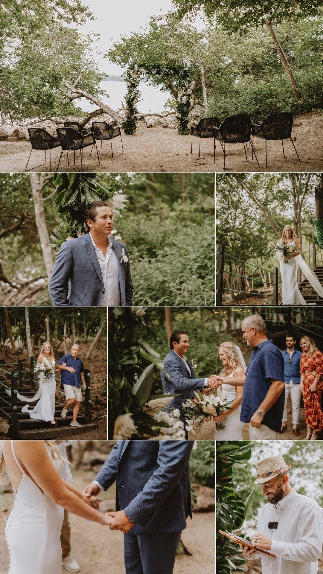 Guanacaste micro wedding ceremony