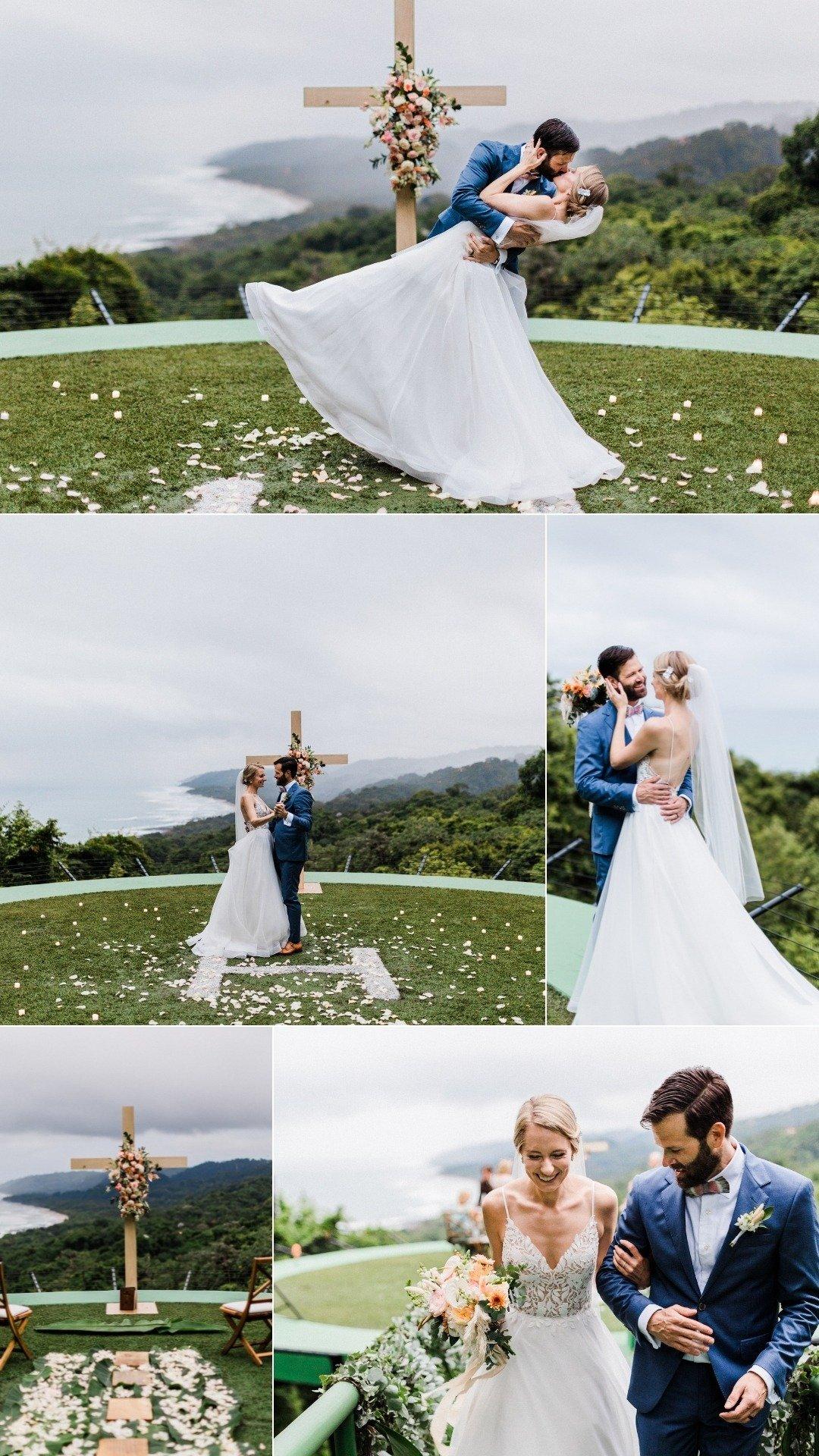 mountain and ocean view wedding in Santa Teresa costa rica